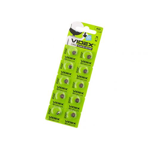 Батарейка Videx AG1/10bl (LR621) (2) (10) (100)