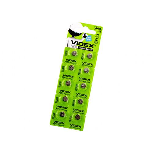 Батарейка Videx AG11/10bl (LR721) (2) (10) (100)