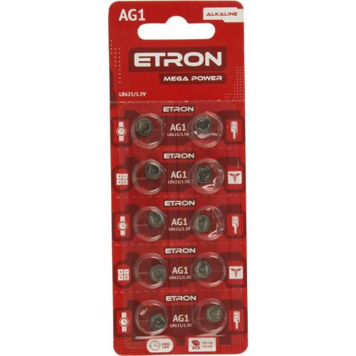 Батарейка Etron Mega Power AG1/10bl LR621 (10) (200)