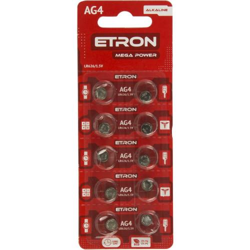Батарейка Etron Mega Power AG4/10bl LR626 (10) (200)