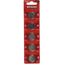 Батарейка Etron Lithium Power CR2025/5bl 3V (5) (60)