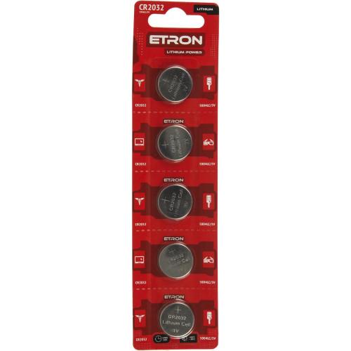 Батарейка Etron Lithium Power CR2032/5bl 3V (5) (60)