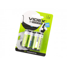 Батарейки VidexLR-14/блістер 2 шт (12) (48)