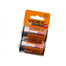 Батарейки VidexR-14 мініблістер 2 шт (12) (120)