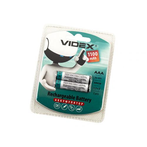 Аккумуляторы Videx (HR-03, 1100 mAh) блистер 2 шт