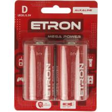 Батарейки Etron Mega Power LR-20 блистер 2 шт (6)