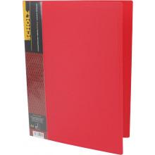 Папка с зажимом Scholz А4 с карманом PP красная (1) (20) №05502