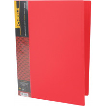 Папка с зажимом Scholz А4 зажим, карман, PP красная (1) (20) №05500 / 03055001