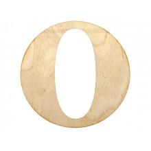 "Заготовка фанера літера англійська ""O"" h10см (5)"