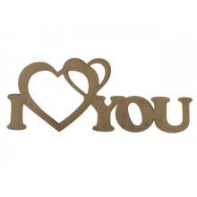 Заготовка фанера надпись I love you 7х16см  (5)