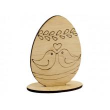 Заготовка фанера декоративное яйцо Голубки 10см