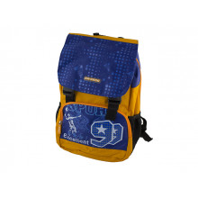 Рюкзак Dr. Kong ортопедична спинка, 2 відділення, 2 кишені, жовто-блакитний M (10) Z1215005/970301