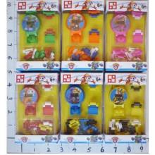 Конструктор-годинник, в коробці 7х3х12см, 6 видів (200) (600) КІ 863004(1518429)