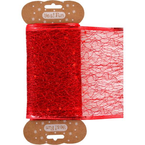 Декоративна стрічка Yes Santi червона, 10смх2м №750281