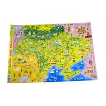 Дитяча карта України Зірка A2 Ранок (100) 3571