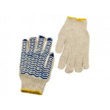 Перчатки трикотажные Seven Волна белые с синими точками (12) (600) 21-550/69014