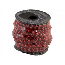 Ожерелье новогоднее 5 ммх10 м красное (24) (72) / Bonadi / №147-485