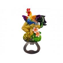"""Магнит керамический """"Петушок и стрелка"""" с вiдкривачкою mix4 M-6876 (12) (288)"""