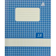 Тетрадь 18 листов клетка Жемчужина Тетрада фоновая обложка (20) (560)