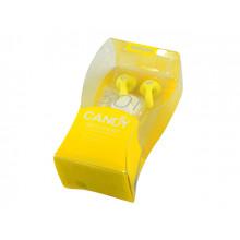 Наушники вставные Remax Candy 301 гарнитура yellow, микрофон