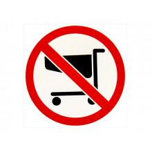 Табличка-наклейка маленькая Проезд тележками запрещено