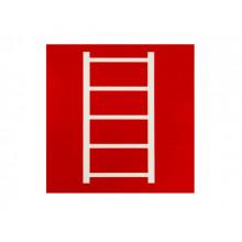 Табличка-наклейка маленькая Пожарная лестница