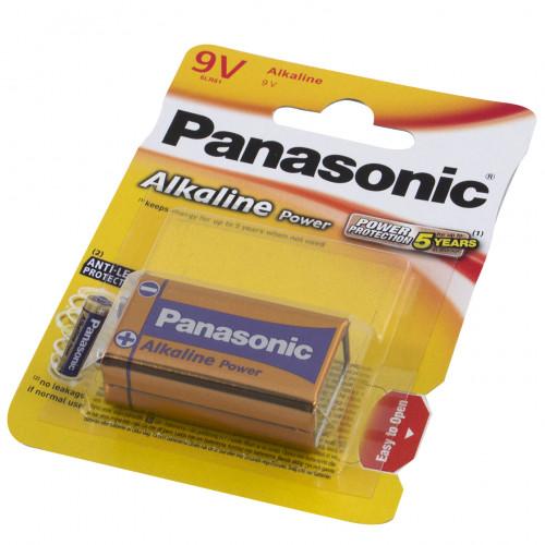 Батарейка Panasonic Алкалайн 6LR61/1bl крона Alkalaine Power Bro (12)