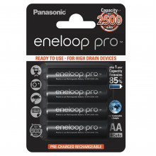 Аккумуляторы Panasonic Eneloop Ni-Mh (R-06,2500 mAh)/блистер 4 штуки (BK-3HCDE/4BE)