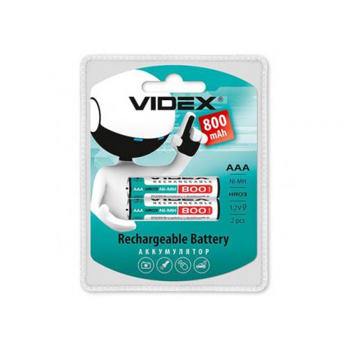 Аккумуляторы Videx (HR-03, 800 mAh) блистер 2 шт