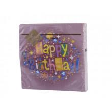 Салфетки столовые ТМ Luxy 3-х слойные 20 шт Счастливый день бордо (15)
