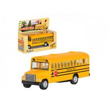 Машина металева School Bus 5 Kinsfun KS-5107-W в коробці 14х7х5см