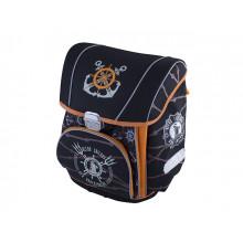 Набор Premium-D: Ранец каркасный 2 отделения, 2 кармана, сумка для обуви,  пенал плоский Морской №2460/ 002888