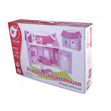 Игрушка деревянная домик-чемодан маленькая, принцессы Classic World №4156