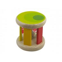 Игрушка деревянная каталка Разноцветный цилиндр Classic World (12) 3053