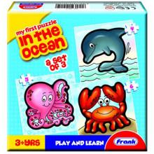 Пазл Frank В океане 3 пазла с 4, 5, 6 деталей (36) №10215