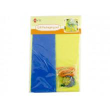 Набір для пакування подарунка Santi 952061 2 шт.х40х55см бірюзовий і салатовий