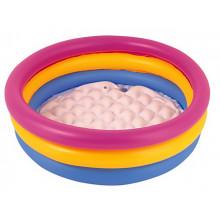 Бассейн детский круглый 3 кольца, надувное дно, 210 л,152х30 см, в коробке 33х28 см (6) №BW51103