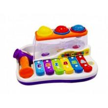 Гра JT9199 логіка, ксилофон із молоточком 27х18х14см в коробці