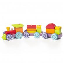 Іграшка дерев'яна Поїзд Веселковий експрес Cubika №LP-3/12923