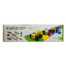 Деревянный конструктор Cubika Цветные гонки №14859