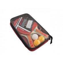 Набор для настольного тенниса 4: 2 ракетки, ручка наборная, EVA и резина, в чехле 17х27х4см (40) №MS0221