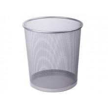 Корзина для бумаги Axent металлическая серебристая №2119-03