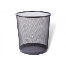 Корзина для бумаги Axent металлическая черная (12) №2119-01