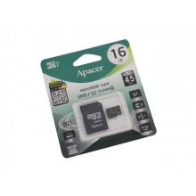 Карта памяти 16Gb Micro-SDHC (UHS-1) Apacer (adapter) class10