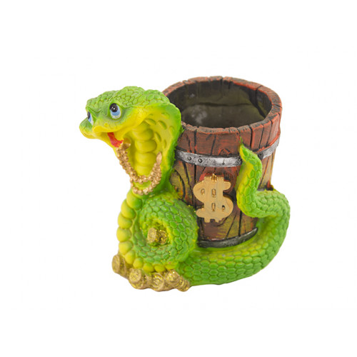 "Статуэтка-подставка под ручки ""Змея"" зеленая MH811 (1007013) (1)"