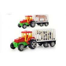 Трактор інерційний 19,5 см з тваринами, в кульку 20х7см (90) (180) А900