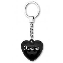 Брелок серце Эмилия Gold 087