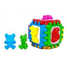 Куб-сортер Kinder Way 50-001 14х14х14см вкладки в кульку