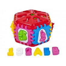 Куб-сортер Kinder Way 50-003 6-гранний літери, тварини