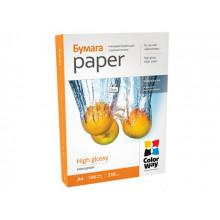 Фотопапір глянцевий CW А4 230г/м2 картонна упаковка (100) PG230-100/PG230100А4